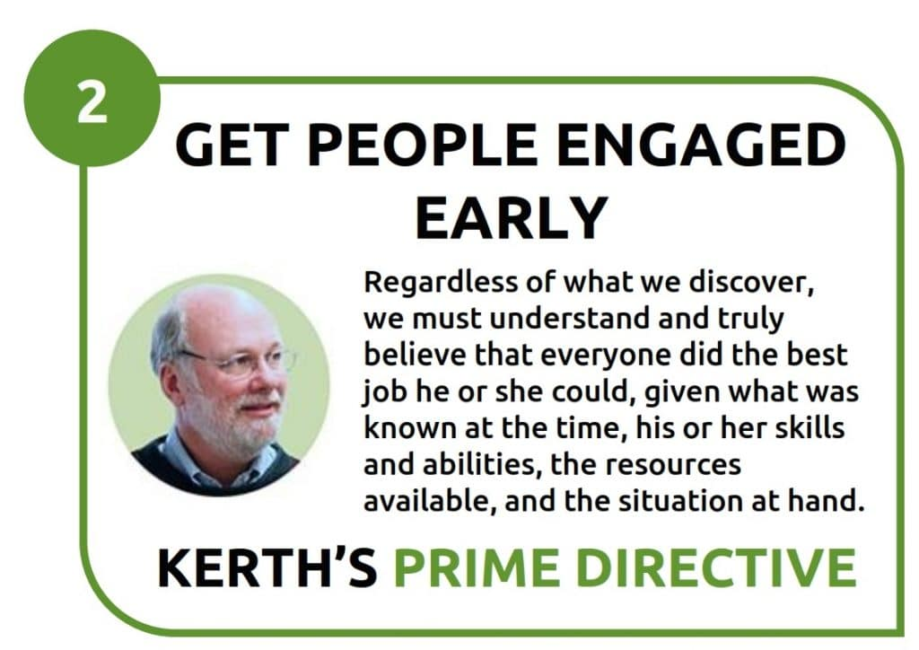 2 -get people engaged early