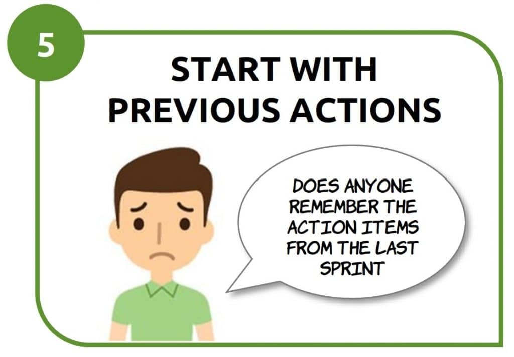 5- start with previous actions