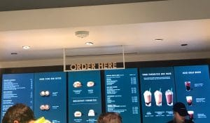 Starbucks mobile order station where team members specialize and decrease performance