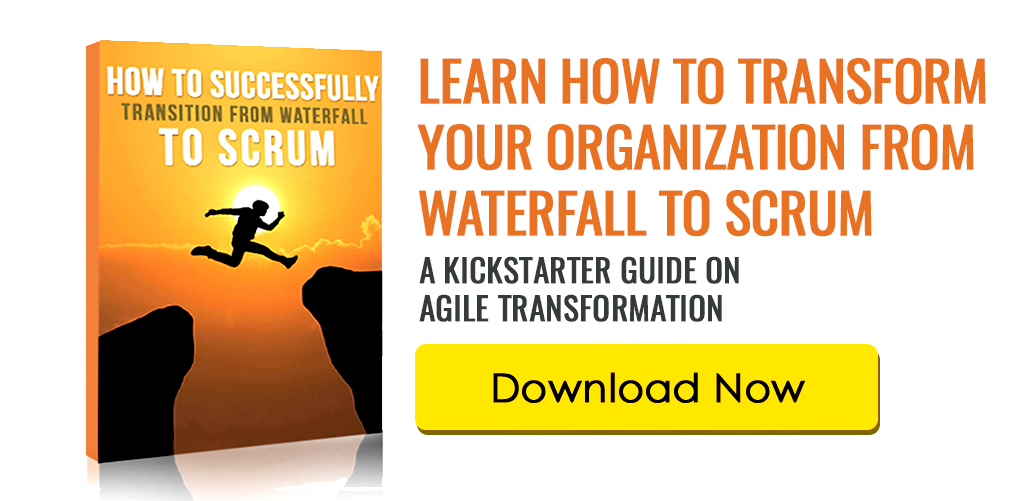 newsletter signup waterfall to scrum