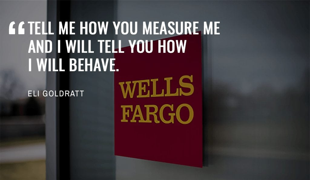 Eli Goldratt Quote on measurements related to high-performing teams
