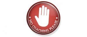 agile coach no coaching please