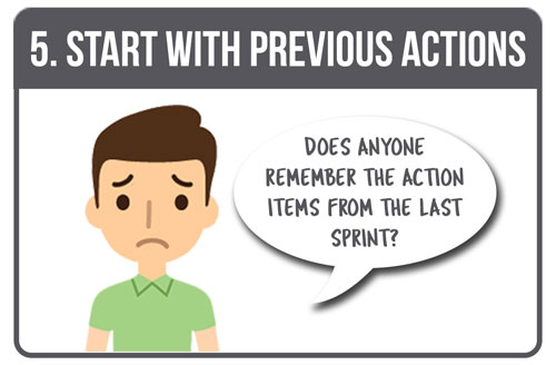 5. Start with Previous Actions