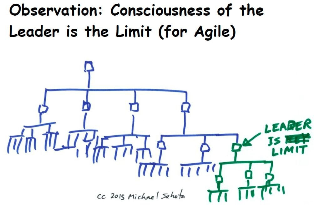 Consciousness of the leader is the limit