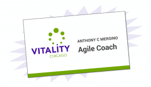 Anthony Mersino Agile Coach business card