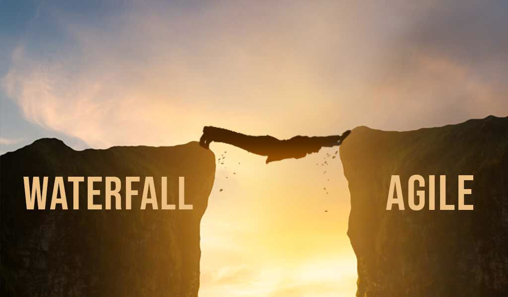 stuck messy middle ground between waterfall and agile transformation