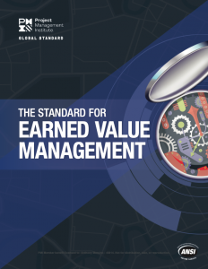 pmi standard for earned value management 2019