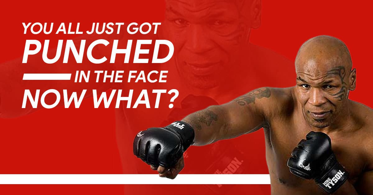 You All Just Got Punched In The Face – Now What?