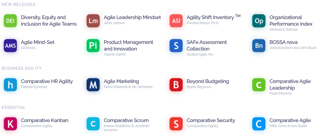 Comparative Agility is a popular Agile Assessment Tool