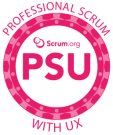 PROFESSIONAL SCRUM WITH USER EXPERIENCE TRAINING PSU logo